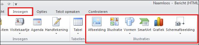 Outlook 2010: Afbeelding invoegen