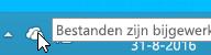 Schermafbeelding van het witte OneDrive-pictogram in Windows 8.1.
