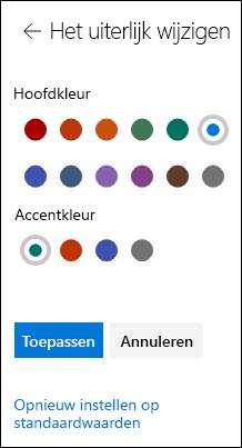 Het thema van uw SharePoint-site aanpassen