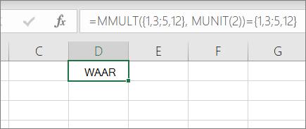 Voorbeeld van eenheidMAT, functie