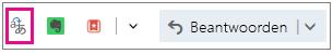 Outlook.com met de knop voor de invoegtoepassing Translator gemarkeerd