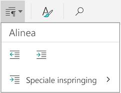 Alinea-inspringing