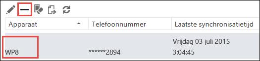 Telefoon verwijderen vanuit Outlook Web App