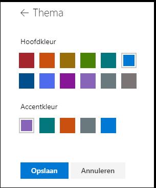 De themakleuren van uw SharePoint-site aanpassen