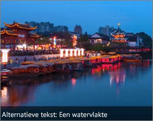 Een afbeelding met automatisch gegenereerde alternatieve tekst aan de onderrand van de afbeelding in Word voor Windows.