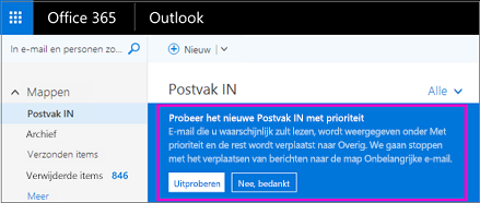 Postvak IN met prioriteit voor Outlook - Office-ondersteuning