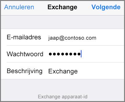 Uw e-mailadres en wachtwoord toevoegen