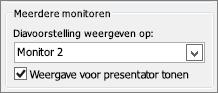 Opties voor PowerPoint 2010-monitors