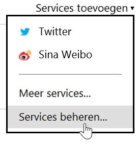 Mijn services beheren