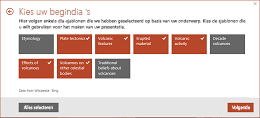 Stap 3 van het QuickStarter-proces: Het overzicht van een presentatie weergeven in PowerPoint