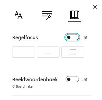 Lijn Focus menu in-/ uitschakelen