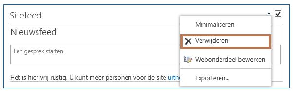Een webonderdeel verwijderen