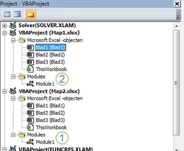 Projectverkenner van VBA