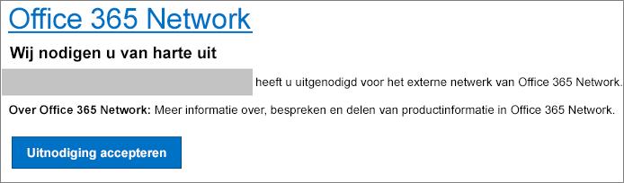E-mailacceptatie van een extern netwerk