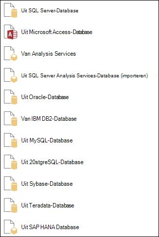 Gegevens ophalen uit een Database
