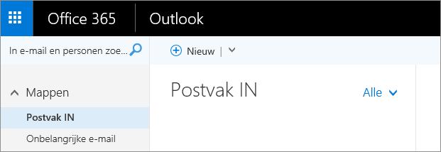 Een afbeelding van het lint in de webversie van Outlook.