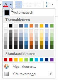 Palet Tekstkleur