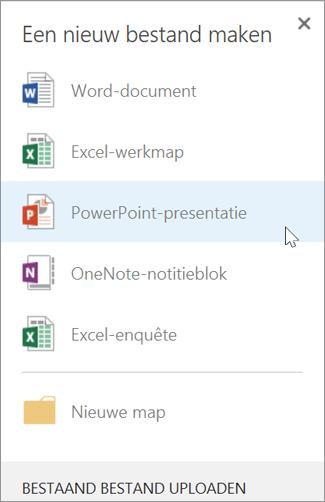 Een nieuwe PowerPoint-presentatie maken