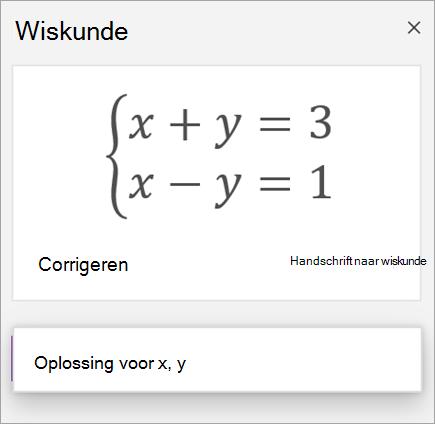 Een met een stelsel gedefinieerde vergelijking met vierkante haken