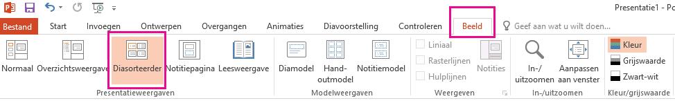 De optie Selecteren bevindt zich op het tabblad Start.