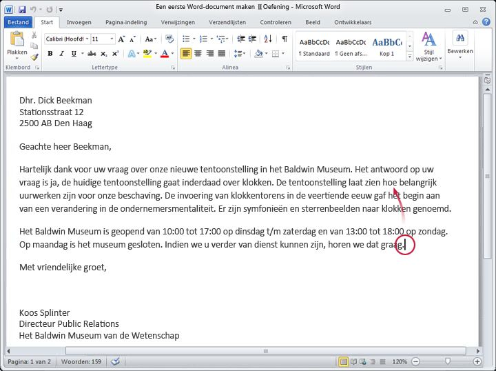 Word 2010-document