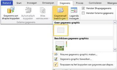Selecteer Geen gegevensafb. om een gegevensafbeelding uit uw shape te verwijderen.