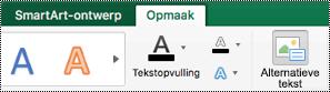 Knop alternatieve tekst voor SmartArt-afbeeldingen in Excel voor Mac