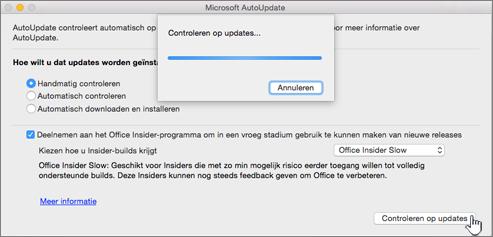 Controleren op updates voor Insider Slow voor Mac