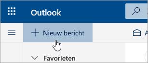 Schermafbeelding van de knop Een nieuw bericht