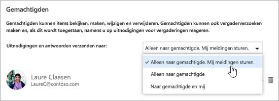 Een schermafbeelding van het dialoogvenster Deze agenda delen.