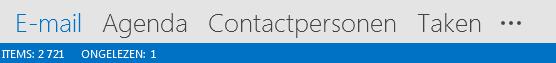 Het tabblad Personen staat onderaan uw Outlook-scherm.