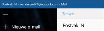 Zo ziet het lint eruit in de Mail-app voor Windows 10