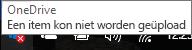 pictogram met rood kruis OneDrive kan niet uploaden