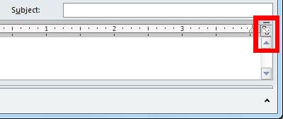 Opdracht Liniaal weergeven in een nieuw berichtvenster