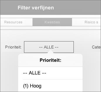 Filters voor een dashboard instellen