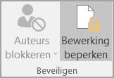 Opties Document beveiligen