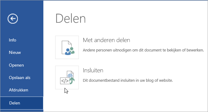 Sluit een Office-document in.
