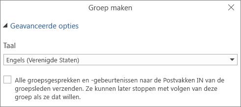 Ervoor kiezen om groeps-e-mail te verzenden naar Postvak IN van gebruikers