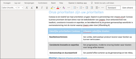 Tekst opmaken in Word Online