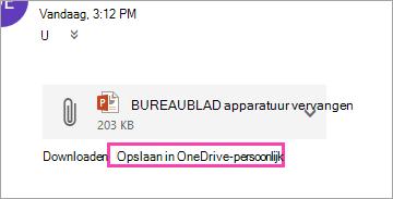 Schermafbeelding van de knop Opslaan in OneDrive