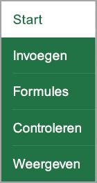 Het tabblad Formules
