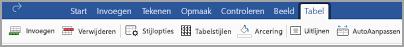 Tabblad Tabel van iPad