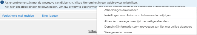 Vlaggen en herinneringen voor geadresseerden worden weergegeven op de infobalk voor berichten.