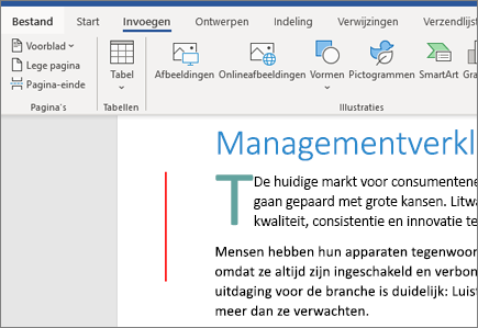 Afbeeldingen, SmartArt en grafieken in Word in Office 365