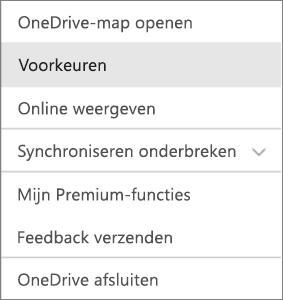 Activiteitencentrum in OneDrive voor Mac