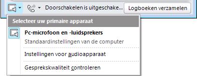 Audio selecteren