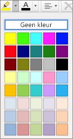 Een kleur selecteren