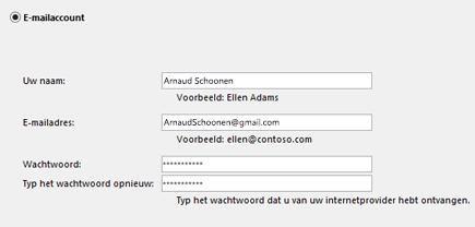 Uw e-mailadres en wachtwoord invoeren
