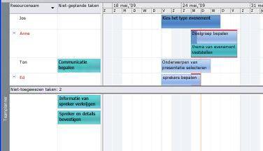 Afbeelding van de weergave Teamplanner.