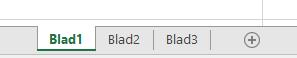 Excel-werkbladtabs worden weergegeven onder in het Excel-deelvenster.